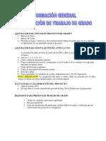 Información general Coordinación Trabajo de Grado UNESUR Núcleo La Victoria AR-2012