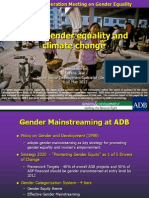 ADB Gender Equality and Climate Change