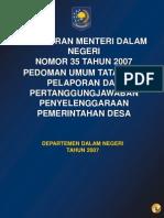 Permen_No.35-2007,Ttg Pedoman LPJ Desa