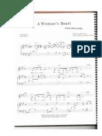 partitura coração de uma mulher