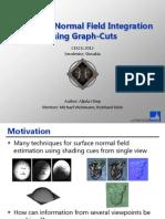 Multiview Normal Field Integration using Graph-Cuts - CESCG presentation