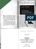 MARX Democrito e Epicuro
