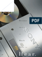 Sony Super Audio CD (SACD) Promo Brochure