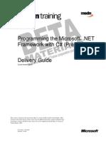 2349 Programming the Microsoft .NET Framework With C#(Prerel