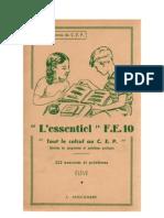 Mathématiques Classiques CEP 1 Tout le calcul au CEP FE- 10 Anscombre