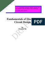Fundamental of Electronic Circuit Design