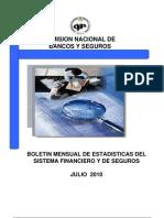 Boletin Comision de Bancas y Seguros Julio de 2010