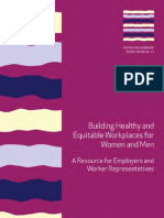 Building Healthy and Equitable Workplaces for Women and Men