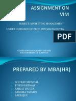 Presentation on Vim Bar