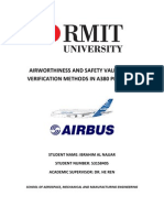 Airworthiness and Safety Validation Verification Methods in A380 Program