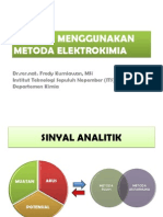 Analisis Menggunakan Metoda Elektrokimia