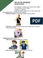 los trabajos. tema de cono de 4º de primaria