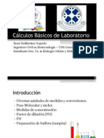 Cálculos de laboratorio