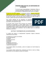 IMPORTANCIA Y ORÍGENES BÍBLICOS DE LOS UJIERES