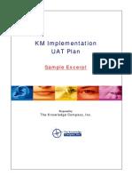 KM UAT Plan - Sample