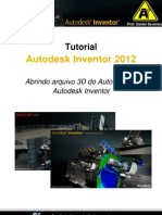 Prof. Daniel Severino - Abrindo Arquivo 3D Do AutoCAD No Autodesk Inventor
