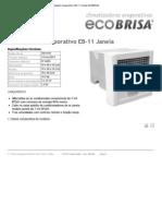 Climatizador Evaporativo EB-11 Janela ECOBRISA
