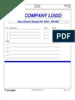 API 650 Pipe Column Design