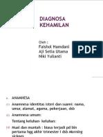 DIAGNOSA KEHAMILAN