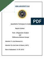 QTIA Report 2012 IQRA UNIVERSITY