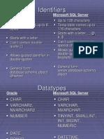 Identifiers ion ORACLE&MSSQL
