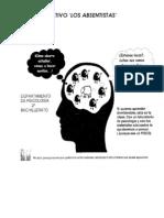 CARTELES PUBLICITARIOS de la asignatura de PSICOLOGÍA 2º Bachillerato