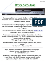 Daewoo Dvd-5800 Region