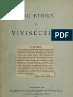 Ethics of Vivisection 1900
