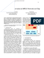 Bandwidth Reservation in MPLS Network-on-Chip