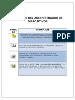 SÍMBOLOS DEL ADMINISTRADOR DE DISPOSITIVOS