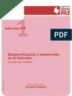 Desmovilizacin y Reinsercin en El Salvador Lecciones Para Colombia Copia