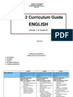 DEPED K to 12 - EnGLISH Curriculum Guide - Grades 1-3