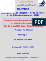 PFE evaluation des risques en céramique