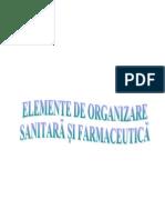 ORGANIZARE SANITARĂ ŞI FARMACEUTICĂ