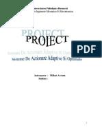 Sisteme de Actionare Adaptive Si Optime