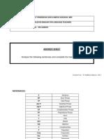 Worksheet on Sentence Analysis