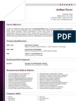 Accounting Resume Sample 1