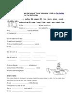 Yellow Submarine 2ndc Worksheet