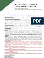 Reguli Redactare Lucrari de Atestat 2011