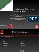 Ruby Rails Introduction PoR 2007 Longue v2