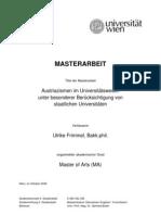 Austriazismen im Universitätswesen unter besonderer Berücksichtigung von staatlichen Universitäten