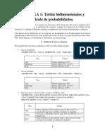 Tablas bidimensionales y cálculo de probabilidades
