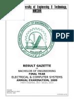 Result Gazette 2012