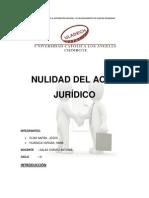 Nulidad Del Acto Juridico