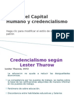 Teoria Del Capital Humano y Credencialismo