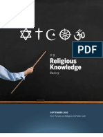 Religious Knowledge Full Report