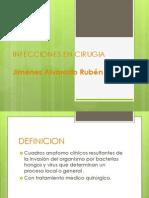 Infecciones en Cirugia - Jimenez Alvarado Ruben