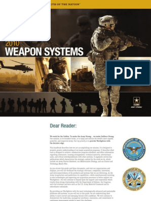 U S army Weapons Systems 2010 Department of the Army