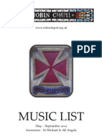 Music List, May-Sept. 2012