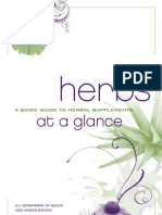 NIH Herbs at a Glance